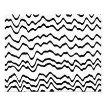 White and Black Waves Pattern. Flyer