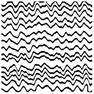 White and Black Waves Pattern. Photo Cut Outs