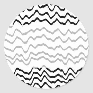 White and Black Waves Pattern. Stickers