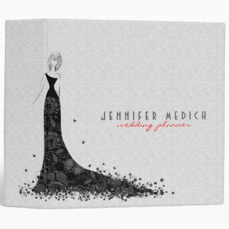 White And Black Wedding Dress & Vintage Lace Vinyl Binder