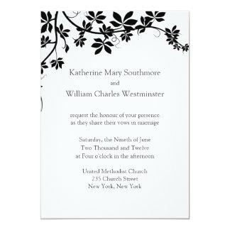 White And Black Wedding Invitations