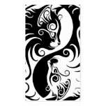White and Black Yin Yang Cats Business Cards