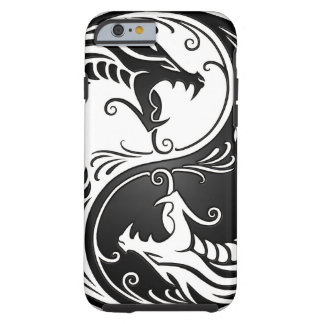 White and Black Yin Yang Dragons Tough iPhone 6 Case