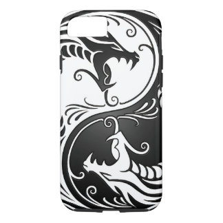 White and Black Yin Yang Dragons iPhone 7 Case