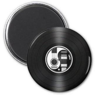 White and Black Yin Yang Guitars Vinyl Graphic Fridge Magnets