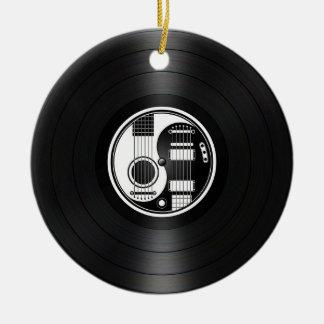 White and Black Yin Yang Guitars Vinyl Graphic Ornaments