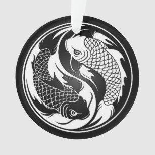 Yin yang koi fish ornaments keepsake ornaments zazzle white and black yin yang koi fish ornament publicscrutiny Image collections