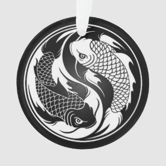 White and Black Yin Yang Koi Fish Ornament
