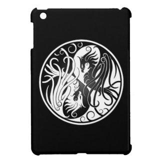 White and Black Yin Yang Phoenix iPad Mini Cover