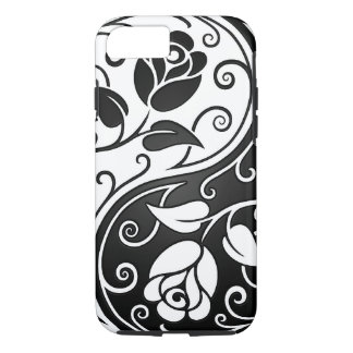 White and Black Yin Yang Roses iPhone 7 Case