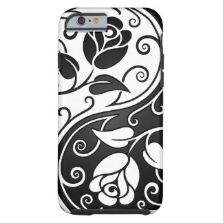 White and Black Yin Yang Roses Tough iPhone 6 Case