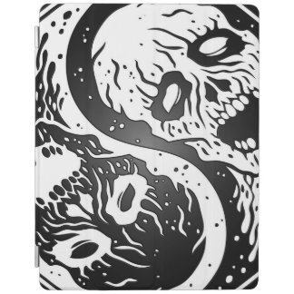 White and Black Yin Yang Zombies iPad Smart Cover
