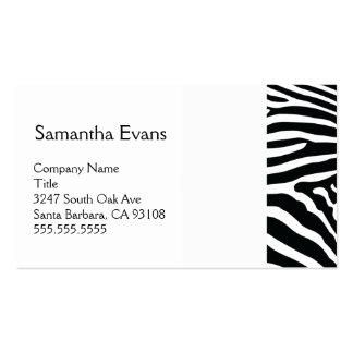 White and Black Zebra Business Card