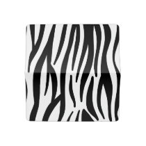 White and Black Zebra Pattern Checkbook Cover