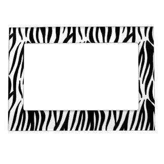 White and Black Zebra Pattern Magnetic Photo Frame