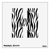 White and Black Zebra Pattern Wall Sticker