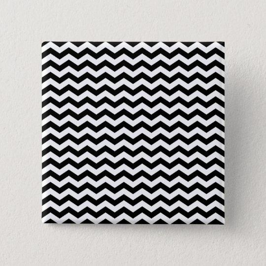 White and Black Zig Zag Button