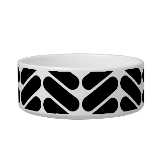 White and Black Zig Zag Pattern. Bowl