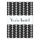White and Black Zig Zag Pattern. 5x7 Paper Invitation Card