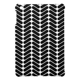 White and Black Zig Zag Pattern. Cover For The iPad Mini