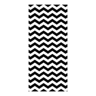 White and Black Zig Zag Rack Card