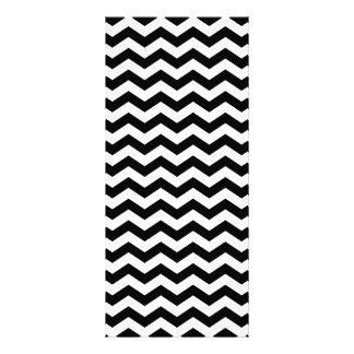 White and Black Zig Zag Customized Rack Card