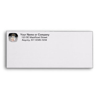 White and blonde albino hamster picture envelope