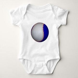White and Blue Baseball / Softball Baby Bodysuit