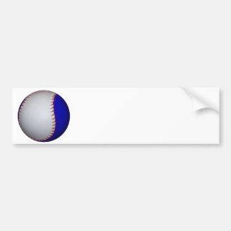 White and Blue Baseball / Softball Bumper Sticker