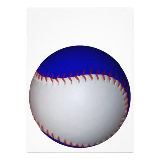 White and Blue Baseball / Softball Personalized Announcements