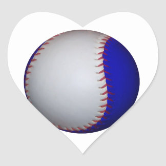 White and Blue Baseball / Softball Stickers