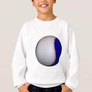 White and Blue Baseball / Softball Sweatshirt