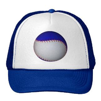 White and Blue Baseball / Softball Trucker Hat