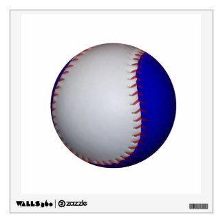 White and Blue Baseball Softball Wall Sticker