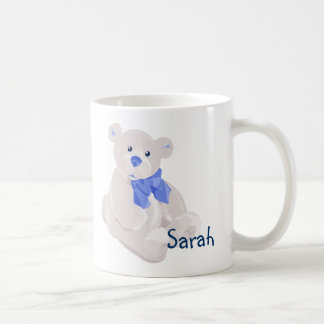 White and Blue Bear Mug