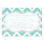 "White and Blue Chevron Housewarming Party Invite 5"" X 7"" Invitation Card"