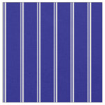 [ Thumbnail: White and Blue Lines Fabric ]