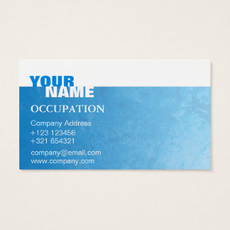 White and Blue Modern Business Card