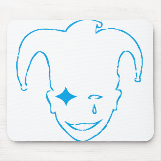 White And Blue MTJ Mouse Pad