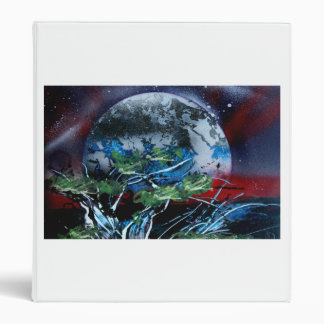 White and blue planet with red and black back vinyl binders