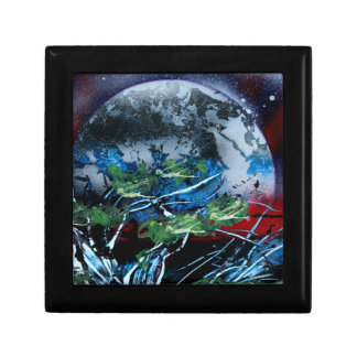 White and blue planet with red and black back keepsake boxes
