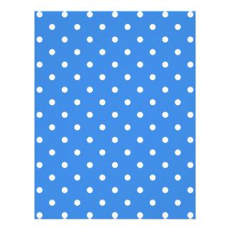 White and Blue Polka Dot Pattern. Flyer