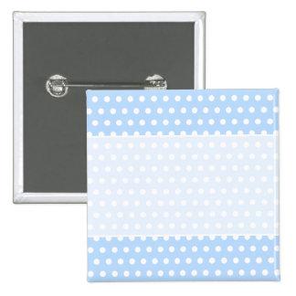 White and Blue Polka Dot Pattern. Spotty. Button