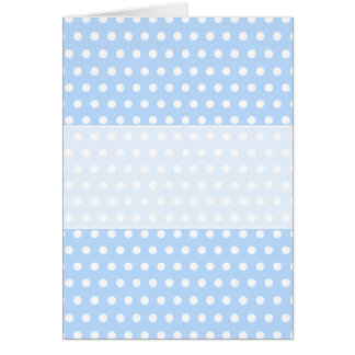 White and Blue Polka Dot Pattern. Spotty. Greeting Card