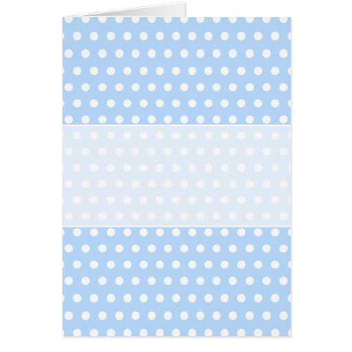 White and Blue Polka Dot Pattern. Spotty. Greeting Cards
