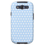 White and Blue Polka Dot Pattern. Spotty. Samsung Galaxy SIII Case