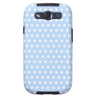 White and Blue Polka Dot Pattern Spotty Samsung Galaxy SIII Case