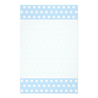 White and Blue Polka Dot Pattern. Spotty. Flyer