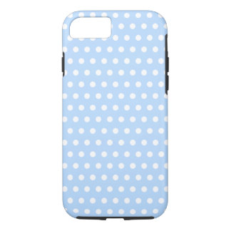 White and Blue Polka Dot Pattern. Spotty. iPhone 8/7 Case