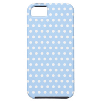 White and Blue Polka Dot Pattern. Spotty. iPhone SE/5/5s Case